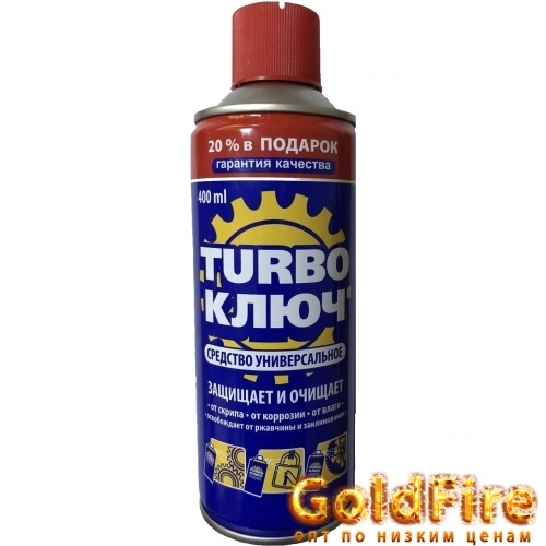 Средство от ржавчины WD-40 Turbo ключ, 400ml